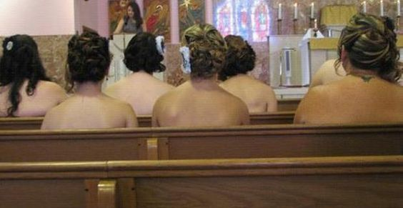 Never let your bridesmaids go strapless