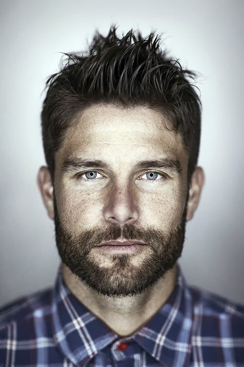 Those eyes though. & that perfect facial hair.   epitome of such a sexy handsome man. my all american baseball /blonde hair blued eyed husband would disagree ;)