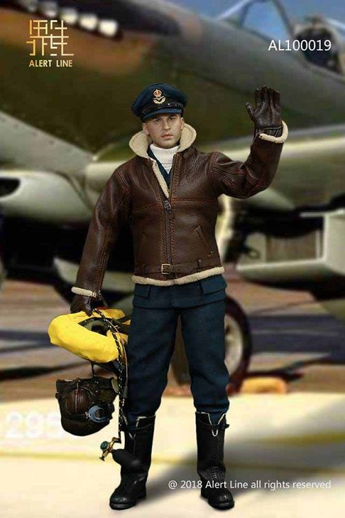 ALERT LINE 1//6 SCALE WWII BRITISH RAF ROYAL AIR FORCE FIGHTER PILOT AL100019