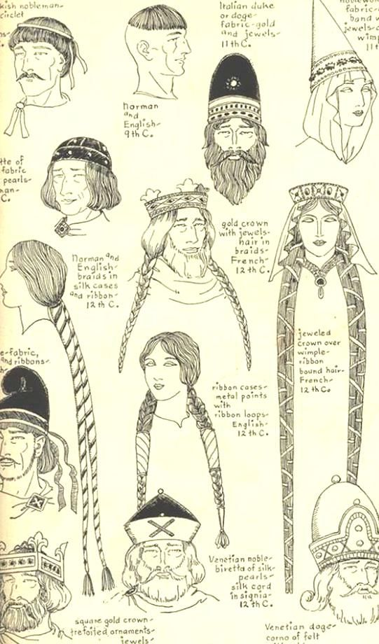 The Hairstyles Of Medieval Women Changed With Their Fashions During The Middle Ages Hair Was First Long And Fl In 2020 Medieval Hats Historical Fashion Historical Hats
