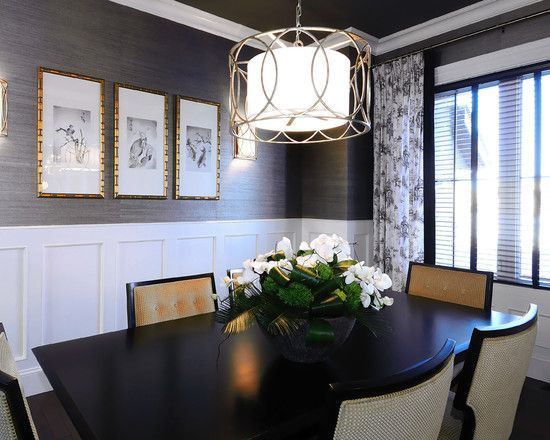 Dining Room Remodel, Dining Room Wallpaper Wainscoting