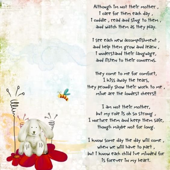 Childminder Poem