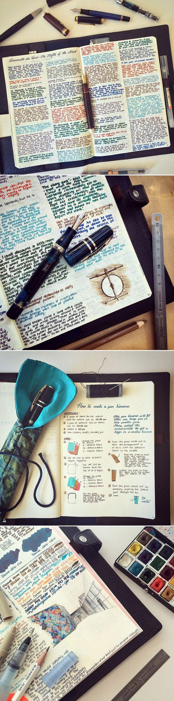 Kolla in...en dagbok som ser ut som en tavla.