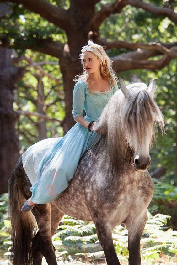 "Cinderella, bareback riding.  ""Just because it's what's done doesn't mean it's what should be done."" -Cinderella:"