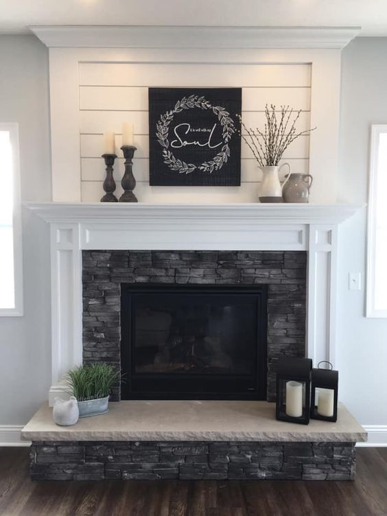 This Collection Of Fireplace Mantels Is Full Of Warm Cozy Decor Inspiration And Ideas For Even The Ch Home Fireplace Fireplace Makeover Fireplace Mantel Decor