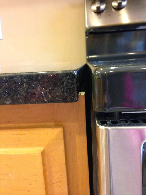 What to look for with granite installation. Good to know for first-time home buyers! By: High Heels Give Me Gas: Bad Granite Install - funny blog