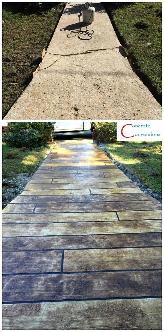 Concrete Wood Sidewalks And Woods On Pinterest