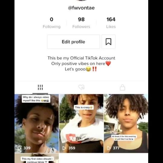Proof Video Of My Tiktok Account Tag Friends Viral Explore Repost Video Positive Vibes First Video