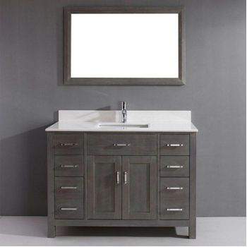 Vanity With Mirror Single Vanities And Costco On Pinterest