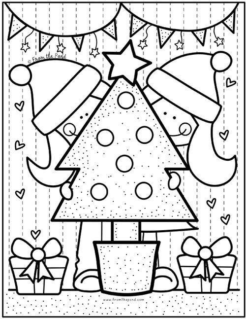 Coloring Club Aus Dem Teich Weihnachtsmalvorlagen Vorschule Weihnachten Weihnachtsfarben