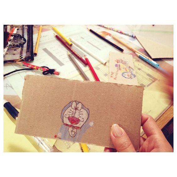 昨日長男くんが宿題の時間にちゃちゃっと描いてプレゼントしてくれた 絵心ない私からすると天才にしか思えないマイメン #ドラえもんズ  #マイメン by saekoofficial