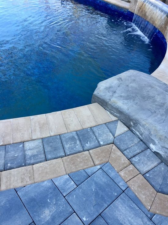cambridge pavers montauk blue ledgestone pool patio miller place