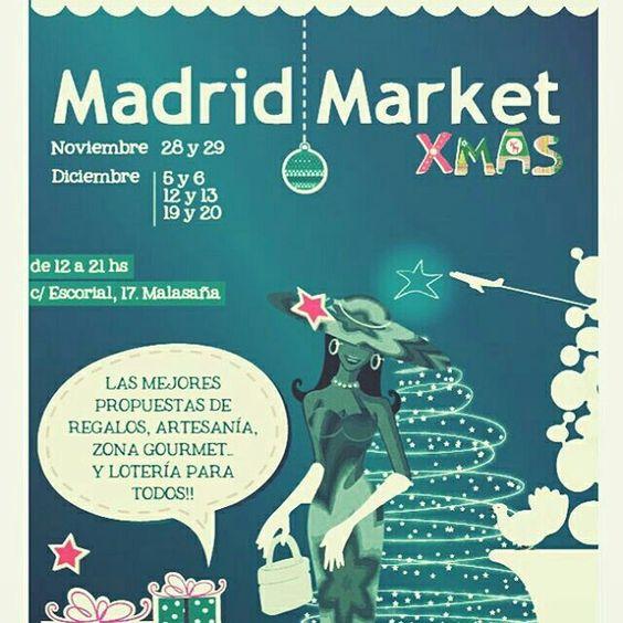 #MADRID #MARKET XMAS. Madrid. Noviembre y Diciembre. #FeriaOtoño Por @unpocodeliomadrid en Instagram.