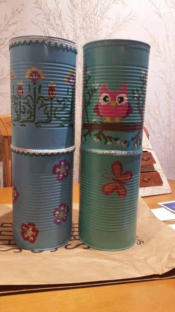 Mis manualidades  Reciclando latas