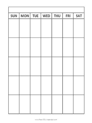 Blank Monthly Calendar Monthly Calendars And Calendar On
