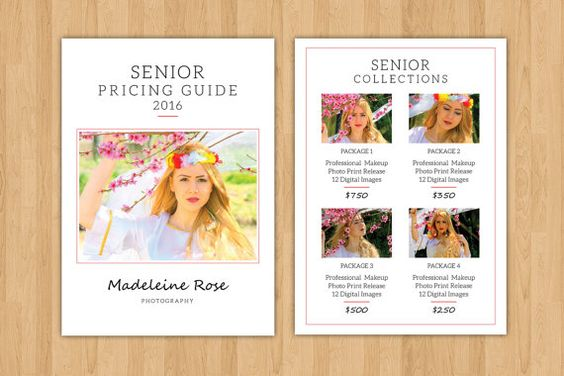 Senior Photography Price List Template by TemplateStock on Etsy - price list template