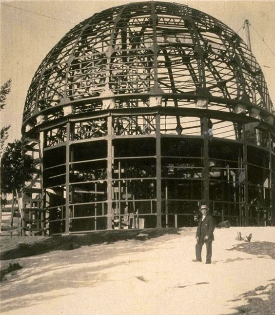 Circa 1904 photo of the Mount Wilson Observatory under construction. Courtesy of…