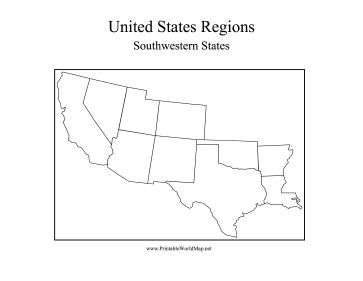 Westward Expansion Best Of History Web Sites Download SOUTHWEST - Blank map of southwest us and mexico