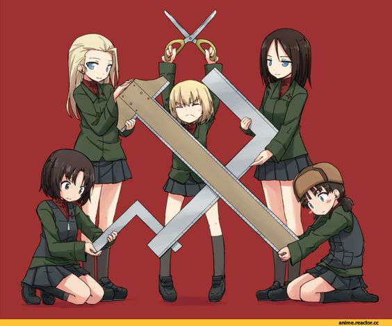 Girls und Panzer,Anime,Аниме,Katyusha,Nonna,clara (girls und panzer),nina (girls und panzer),alina (girls und panzer),kakizaki (chou neji)