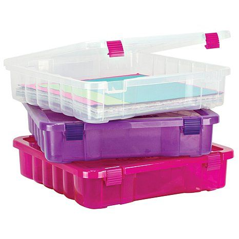 Creative Options Project Box - Clear/Magenta