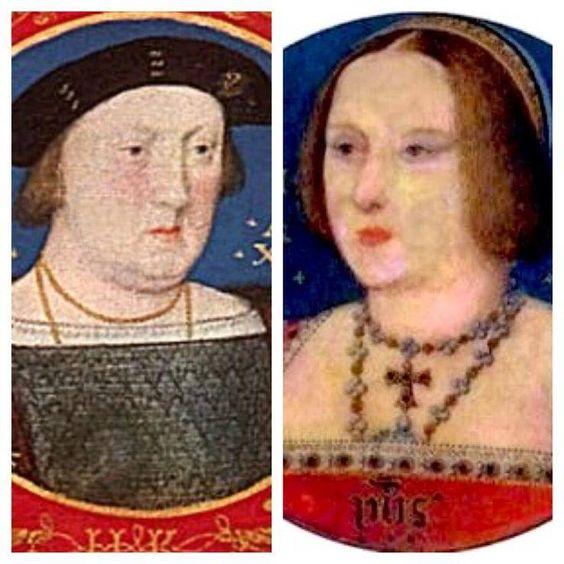Catarina de Aragão e Henrique VIII. Ficaram tantos anos casados, que já pareciam-se!hehe...