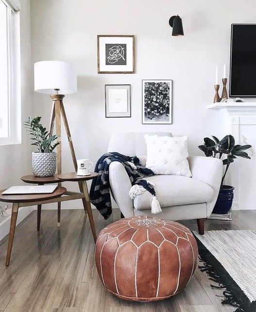 Moroccan Pouf Gray 20x14 Living Room Designs Living Room Corner Home Living Room