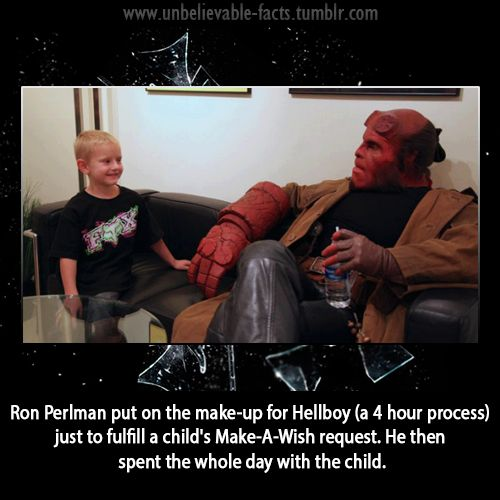 Hellboy Make-A-Wish Meme | Slapcaption.com