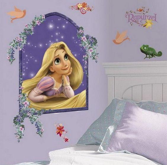 Disney Princess Bedroom | Princess Rapunzel Mural Bedroom Optimized Fairy  Princess Wall Mural . Part 19
