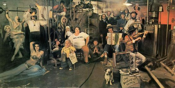 """Inside gatefold cover, Bob Dylan & The Band, The Basement Tapes, """"official release"""",1975."""