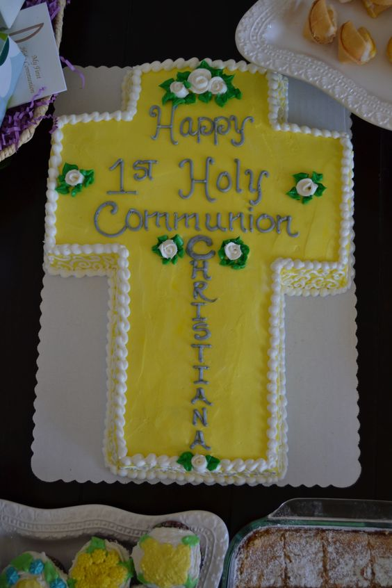 1st communion cake made by our local safeway bakery for 35