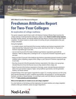 2013 Freshman Attitudes for Two-Year Colleges