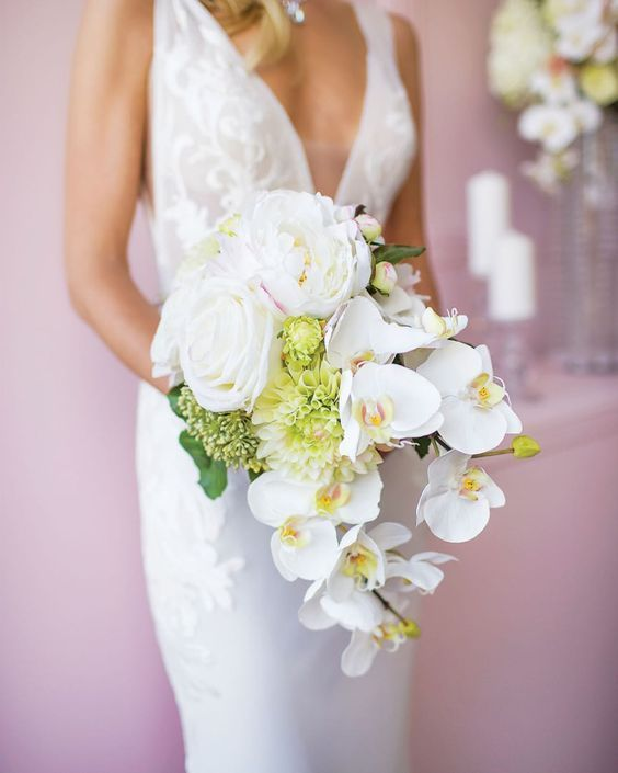 16 Stunning Summer Wedding Flowers White Orchid Bridal Bouquets