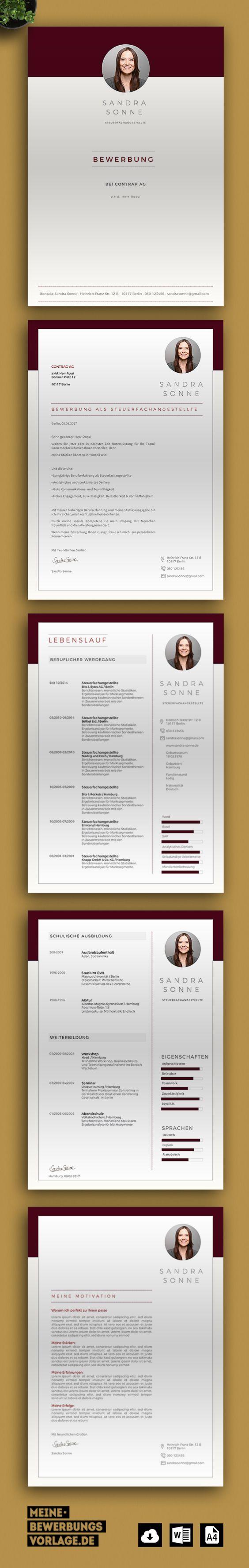 Hier Finden Sie Kreativ Gestaltete Bewerbungsvorlagen Mit Anschreiben Lebenslauf Motivationsschreiben Einfach Zu E Bewerbung Lebenslauf Bewerbung Lebenslauf
