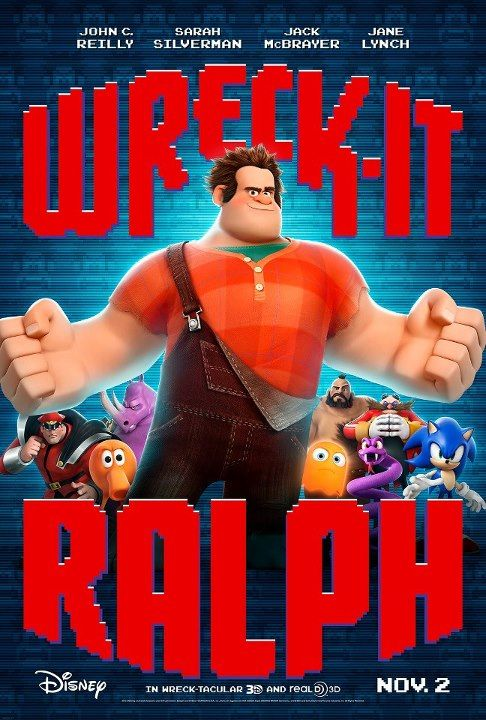 Wreck it Ralph, the first movie of the year! We watched it 50 times last year, I wonder how many this year? So far only 5 times.