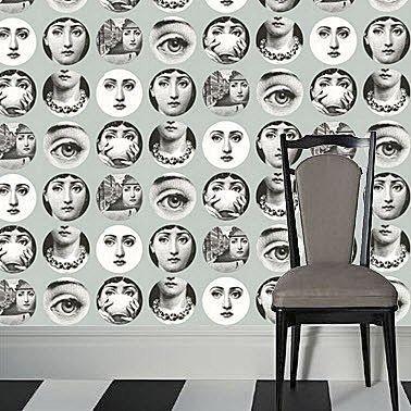 carta da parati a motivi fornasetti collection carta. Black Bedroom Furniture Sets. Home Design Ideas