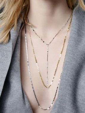 rose gold y-necklace