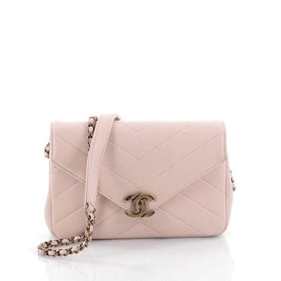 Chanel Coco Envelope Flap Bag Chevron Leather Mini Chanel Handbags Bags Leather Mini