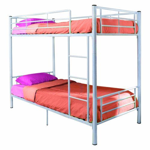 Walker Edison Twin-Over-Twin Bunk Bed, White $199.88