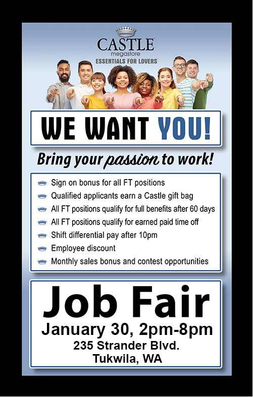 Castle Megastore Job Fair Tuesday 1 30 2pm 8pm Located At 235