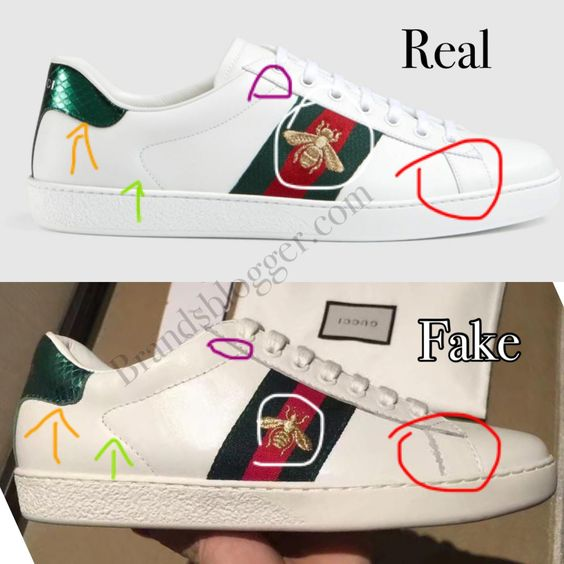 How To Spot Fake Gucci Ace Embroidered