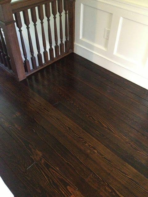 Stains dark stains and nice on pinterest for Hardwood floors jacobean
