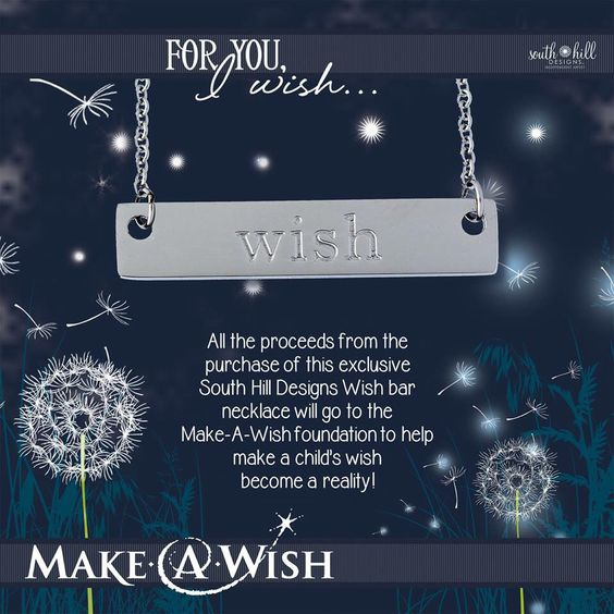 Make a child's wish come true !!! Buy your wish bar necklace  www.southhilldesigns.com/arinay