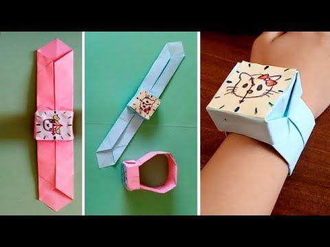 صنع اشياء بالورق كيف تصنع ساعة يد ورقية How To Make Easy Paper Watch Personal Care