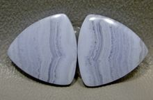 Blue Lace Agate Matched Pair Cabochons #2