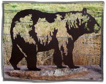 Bear Silhouette metal art  28x40``  Sells for 400