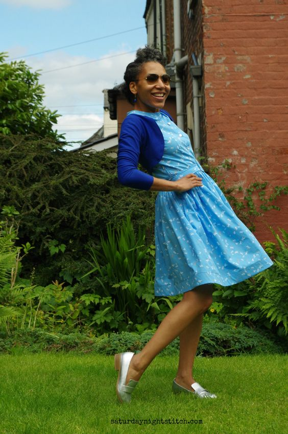 Cami dress with some mods to make a stronger vintage look