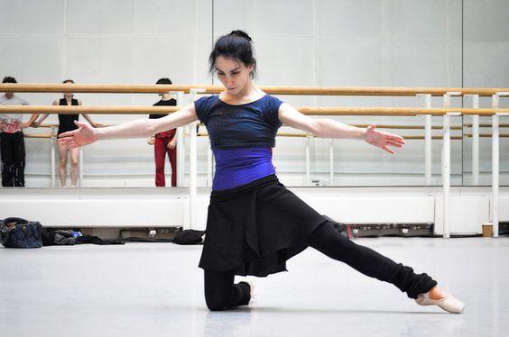 Tamara Rojo in rehearsals for Metamorphosis: Titian 2012, her final production as a Royal Ballet Principal (Photo:  ROH/The Ballet Bag)    #ballet #dance #TamaraRojo #ballerina #RoyalBallet #rehearsal