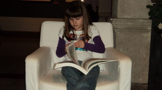 Studying at the art museum.