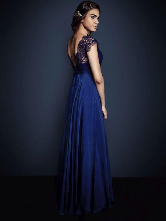 Navy blue formal dress  Vestidos de festa  Pinterest  The dress ...