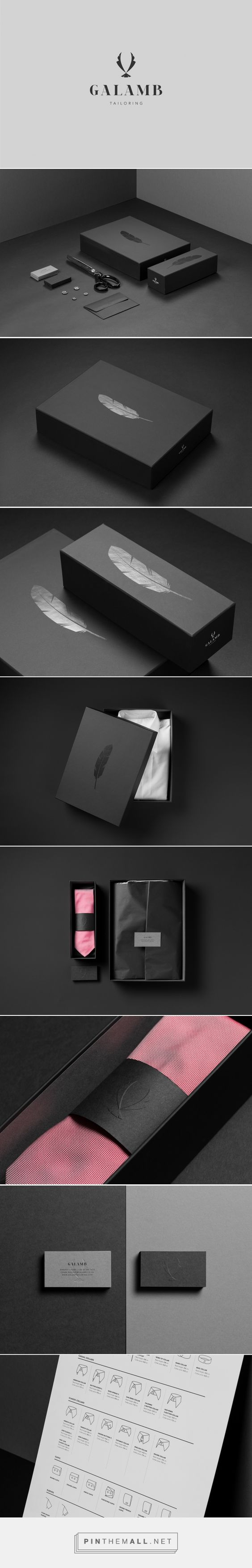 Branding, fashion and packaging for Galamb Tailoring on Behance curated by…
